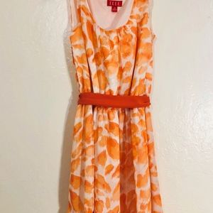 Elle Summer Dress Orange Women's XS